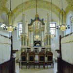 A zsinagóga belső tere