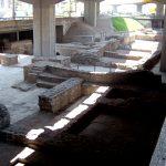 Az egykori római közfürdő maradványai az Árpád-híd alatt